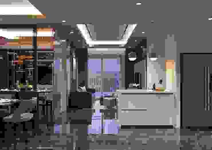 Phong cách hiện đại trong thiết kế nội thất căn hộ Saigon Royal bởi ICON INTERIOR Hiện đại