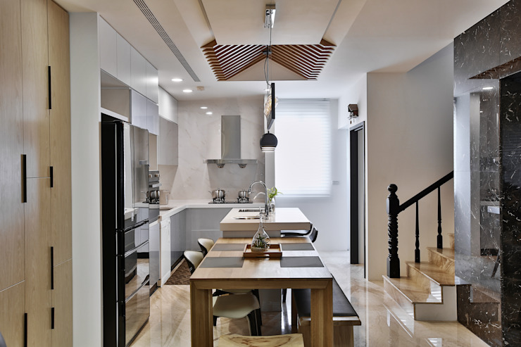 Modern dining room by 安提阿設計有限公司 Modern