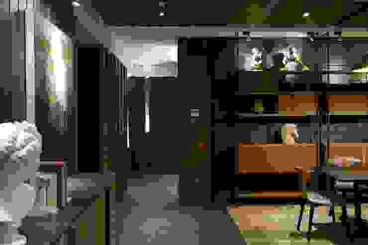信義頌C宅 現代風玄關、走廊與階梯 根據 瑞嗎空間設計 現代風