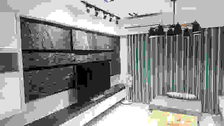 現代風格&風水客廳:  客廳 by 大吉利室內裝修設計工程有限公司, 現代風