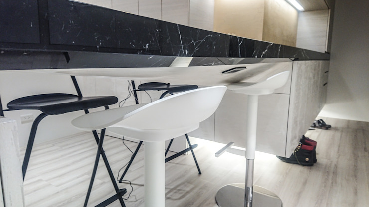 吧檯設計細部:  餐廳 by 大吉利室內裝修設計工程有限公司, 現代風