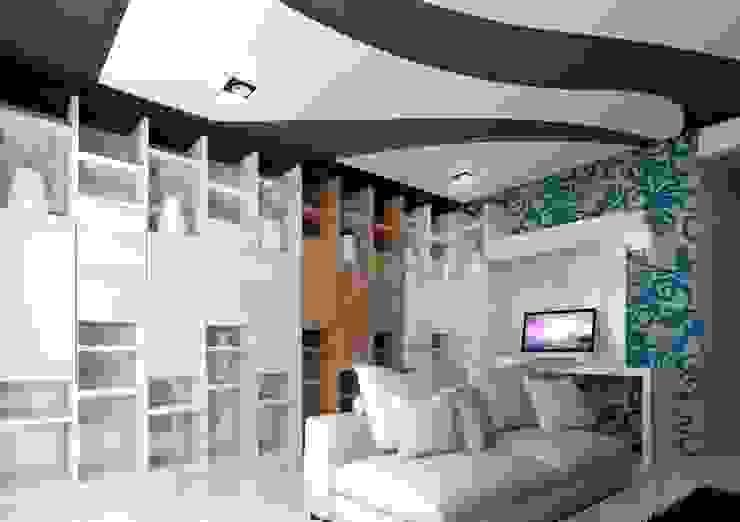 DISEÑO HABITACIONAL Salas multimedia modernas de SKETCH ARQUITECTOS Moderno
