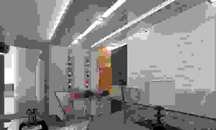 DISEÑO HABITACIONAL Pasillos, vestíbulos y escaleras modernos de SKETCH ARQUITECTOS Moderno