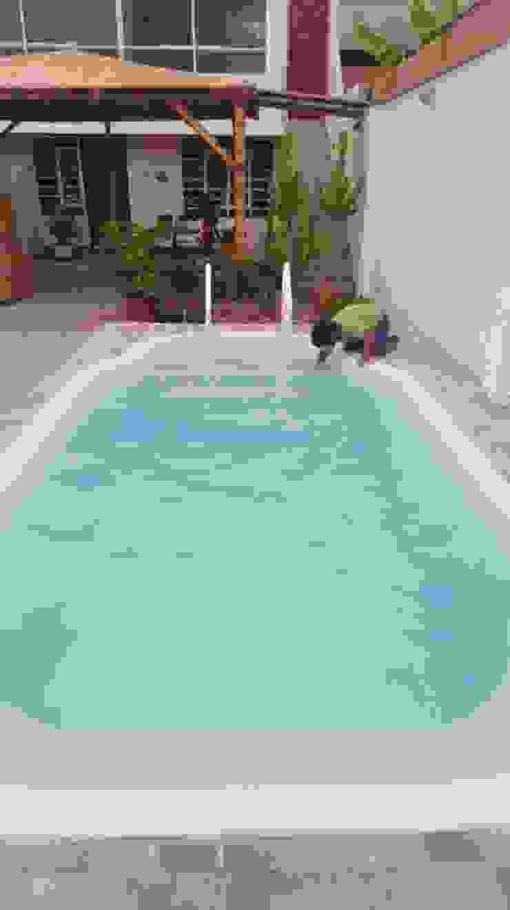 Limpiando de Pool Solei