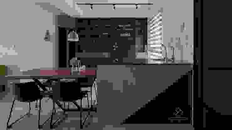 中島 Modern dining room by 極簡室內設計 Simple Design Studio Modern