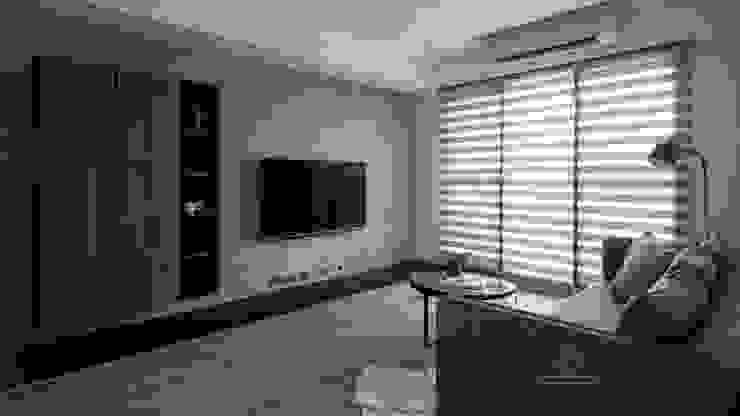 調光簾 Modern living room by 極簡室內設計 Simple Design Studio Modern