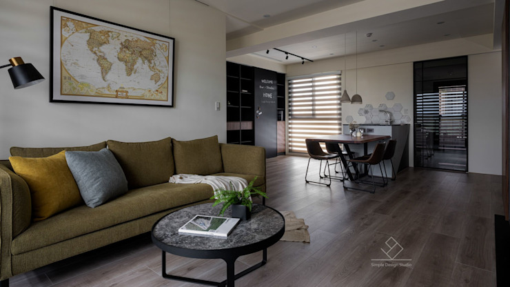 客廳 Modern living room by 極簡室內設計 Simple Design Studio Modern