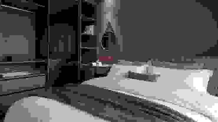 主臥室 Modern style bedroom by 極簡室內設計 Simple Design Studio Modern