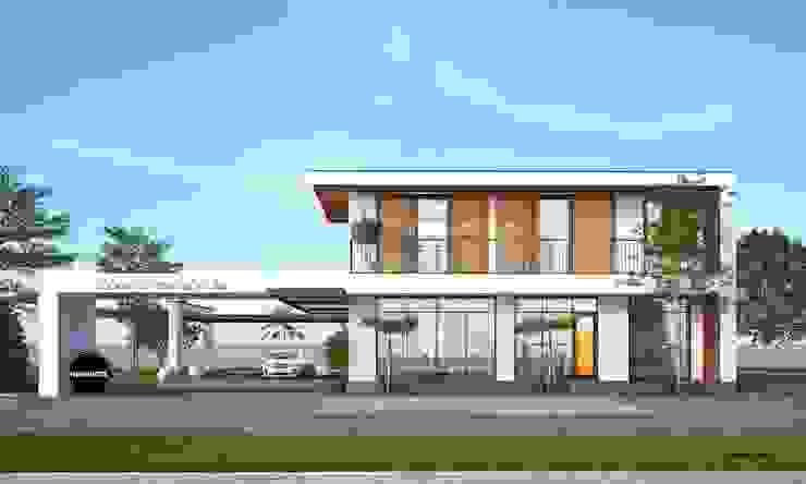 Mẫu thiết kế biệt thự 2 tầng kết hợp kinh doanh cafe tại Tây Ninh bởi NEOHouse