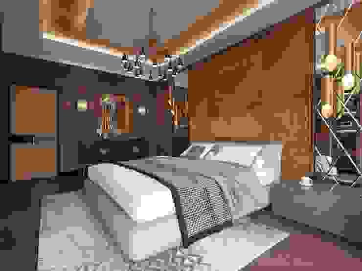 Kamar Tidur Gaya Eklektik Oleh Дизайн студия 'Чехова и Компания' Eklektik Kayu Wood effect