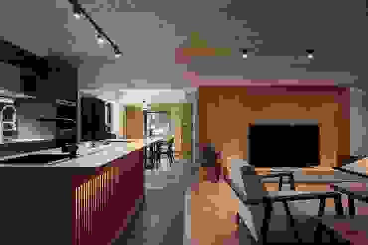 中島吧檯可以當作輕食區 直方設計有限公司 Kitchen units