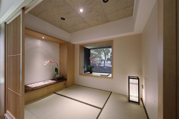 和室也做了兩處臥榻: 亞洲  by 直方設計有限公司, 日式風、東方風