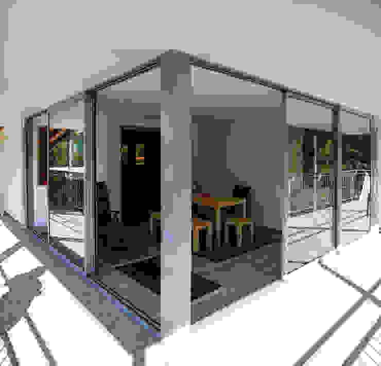 archipur Architekten aus Wien Modern conservatory Granite Grey