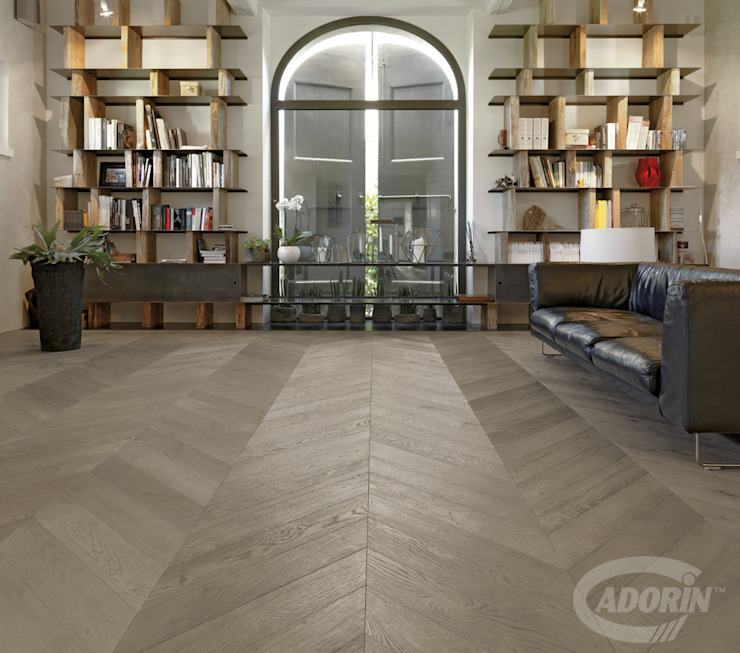 Cadorin Group Srl - Italian craftsmanship production Wood flooring and Coverings Living room Wood Grey