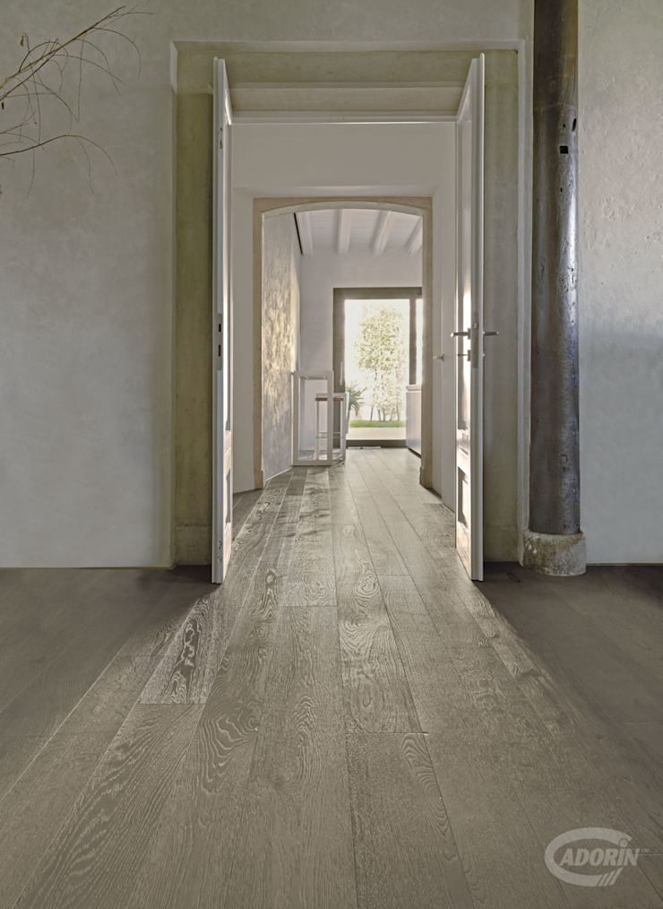 Cadorin Group Srl - Italian craftsmanship production Wood flooring and Coverings Colonial style corridor, hallway& stairs Wood Grey