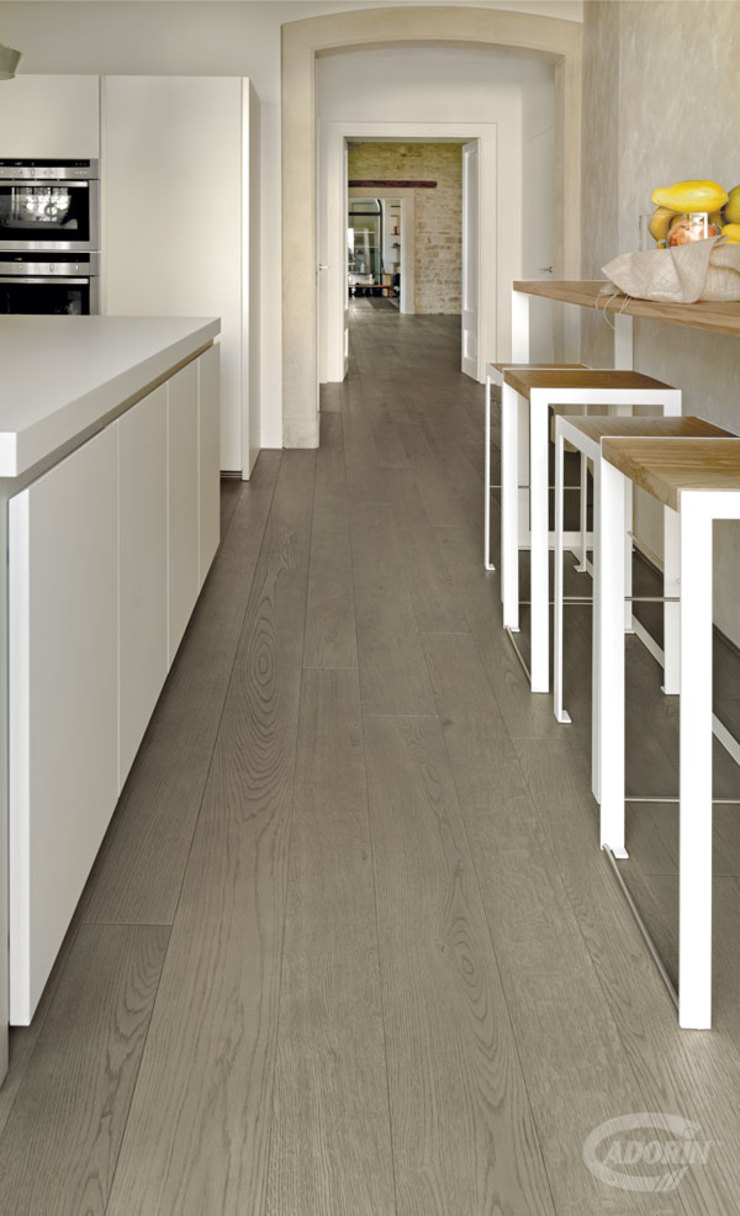 Cadorin Group Srl - Italian craftsmanship production Wood flooring and Coverings Small kitchens Wood Grey