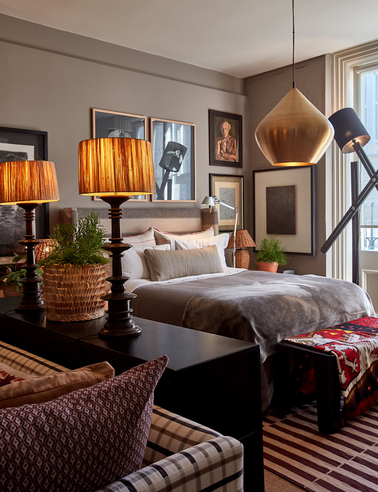 Apartment Hout Eclectic style bedroom by Liam Mooney studio Eclectic