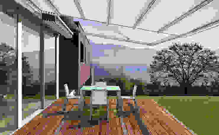 Hotéis modernos por Parasoles Tropicales - Arquitectura Exterior Moderno Alumínio/Zinco
