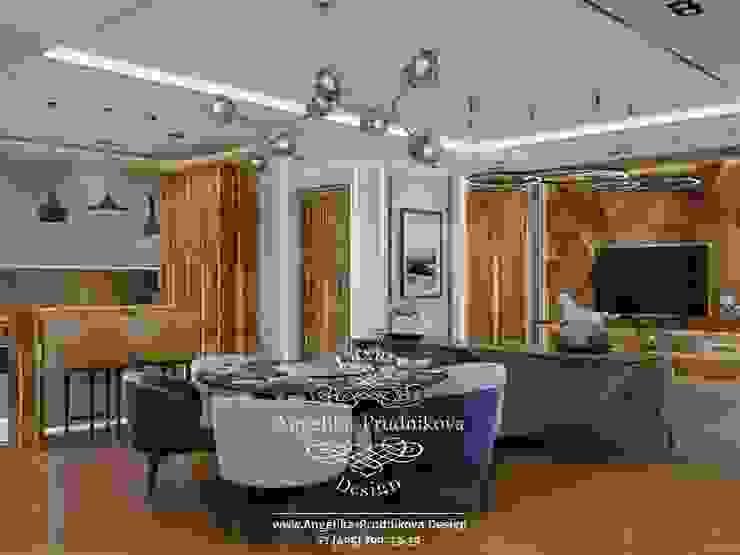 غرفة المعيشة تنفيذ Дизайн-студия элитных интерьеров Анжелики Прудниковой, صناعي