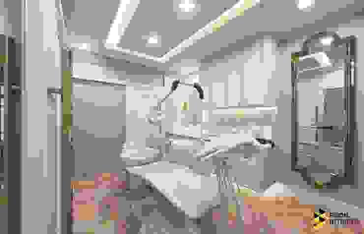 ผลงานการออกแบบตกแต่งภายใน คลินิกทำฟัน >>Smile Vintage<< ของคุณหมอตู่ ที่จังหวัดอุดรธานี: ทันสมัย  โดย Bcon Interior , โมเดิร์น