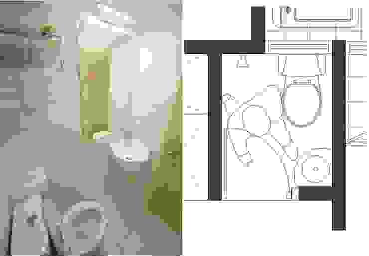 小而美的半坪衛浴間 根據 大觀創境空間設計事務所 日式風、東方風