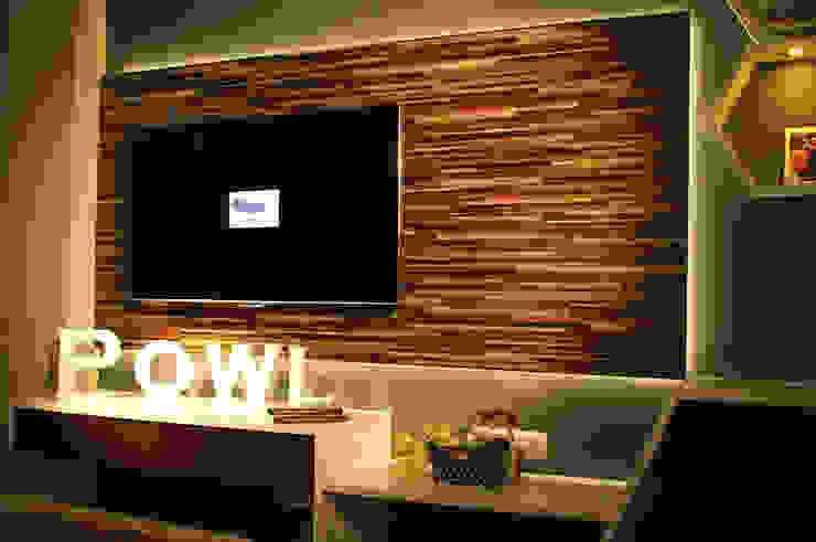 Beverly Honeycomb Tipe Studio Apartment Ruang Media Gaya Eklektik Oleh POWL Studio Eklektik