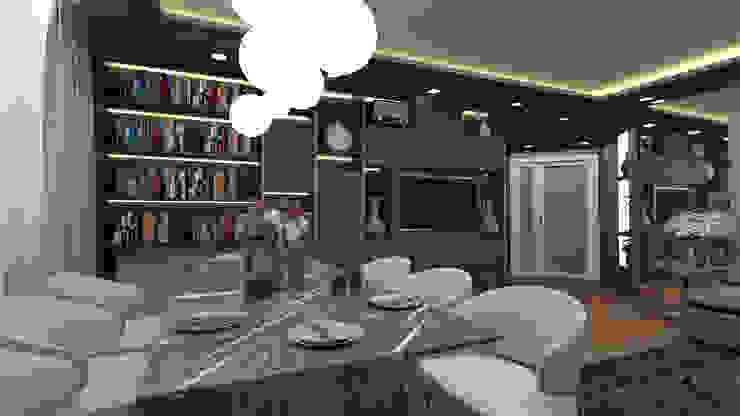 Phòng khách phong cách chiết trung bởi VET MİMARLIK Chiết trung Đá hoa