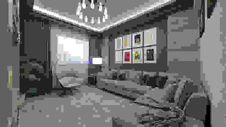 Phòng khách phong cách tối giản bởi VET MİMARLIK Tối giản Gỗ thiết kế Transparent