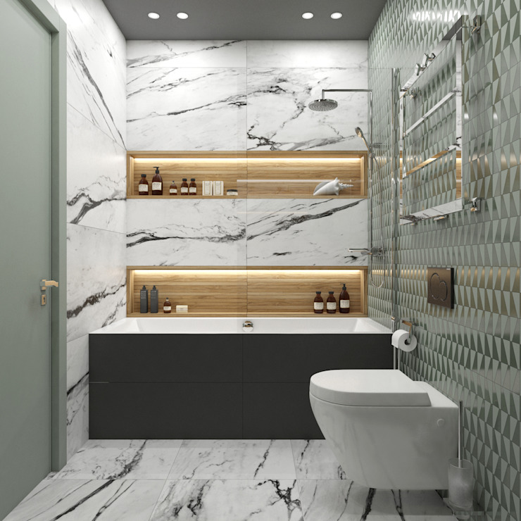 Baños de estilo  por Wide Design Group, Escandinavo