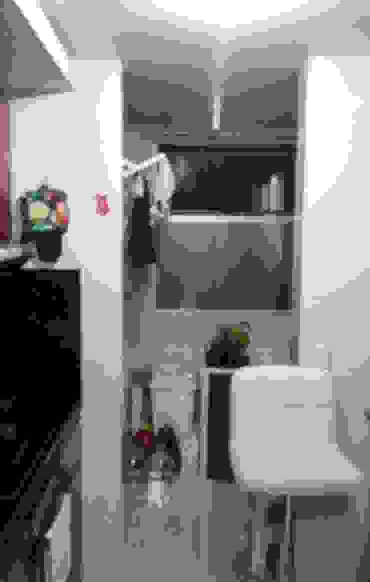 División zona de ropa / cocina inicial de NetCom Construcciones Clásico