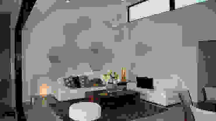 Sala a doble altura: Salas de estilo  por Rabell Arquitectos, Moderno