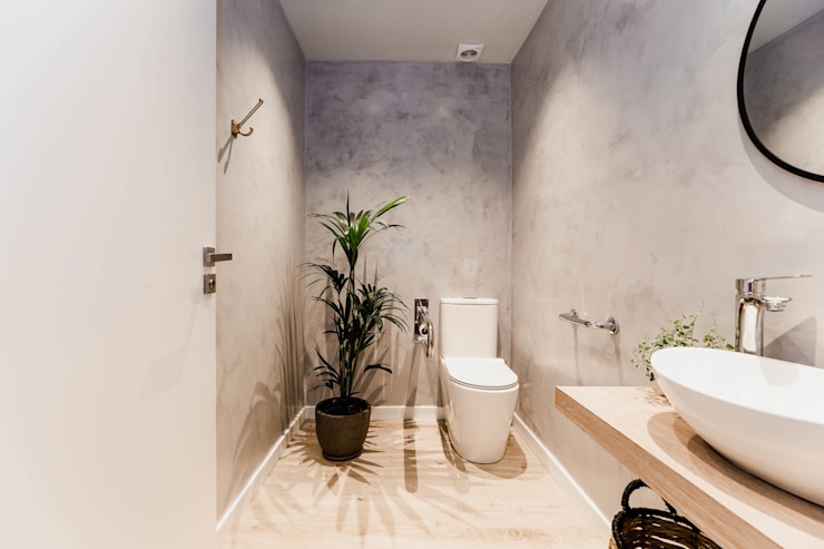 Bathroom by Stockholm Barcelona Design - Interioristas en Barcelona Scandinavian Wood Wood effect