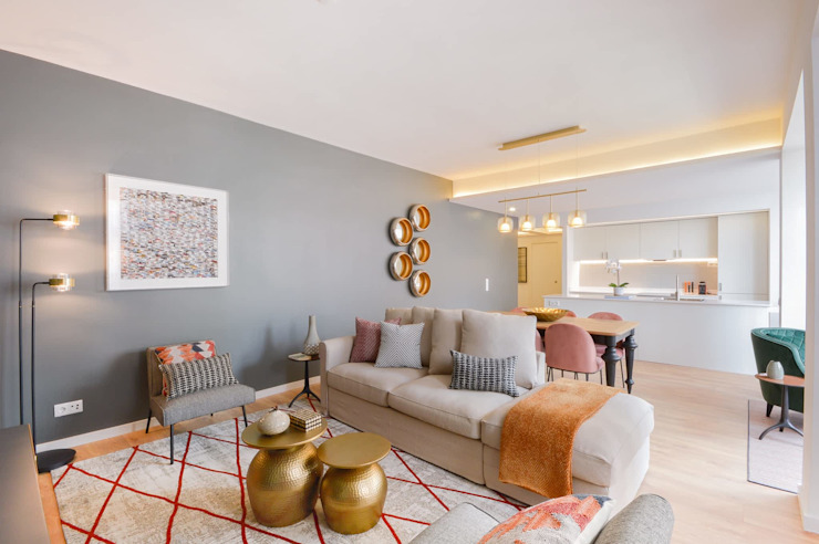 PORTFOLIO 2019 Modern living room by CLINT LEWIS DESIGNS Modern