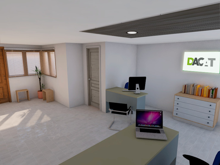 OFICINA DE DACAT Estudios y despachos de estilo moderno de DACAT Moderno