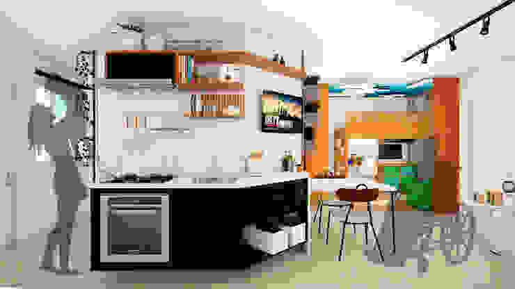 Cozinha integrada Mariê Arquitetura Cozinhas pequenas