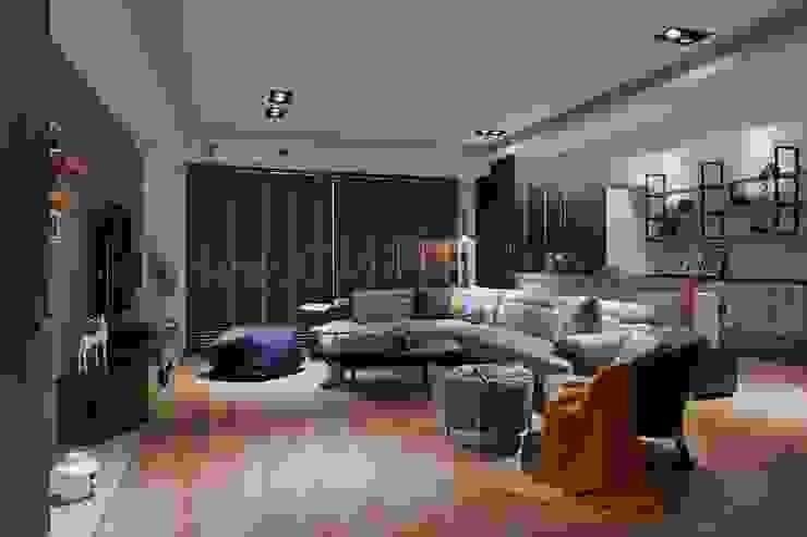 大器人生~大男孩的遊戲室~ 根據 芸匠室內裝修設計有限公司 工業風 複合木地板 Transparent
