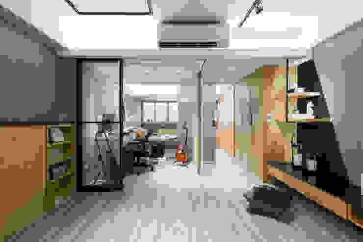 書房 根據 你你空間設計 工業風 木頭 Wood effect