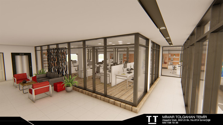 Modern study/office by TT MİMARLIK Modern Ceramic