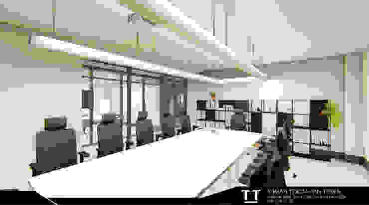 Ofis İç Mekan Tasarımı Modern Çalışma Odası TT MİMARLIK Modern Ahşap Ahşap rengi