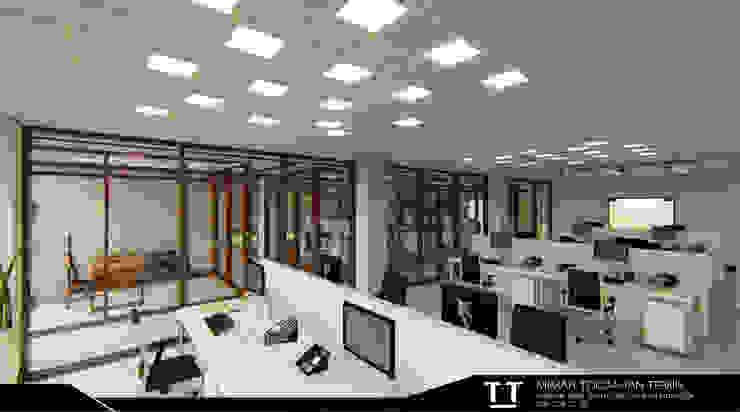 Oficinas y bibliotecas de estilo moderno de TT MİMARLIK Moderno Aluminio/Cinc