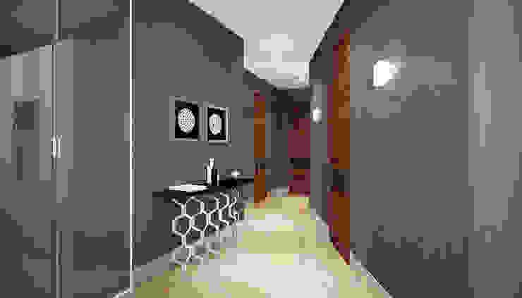 Дизайн студия 'Хороший интерьер' Pasillos, vestíbulos y escaleras de estilo moderno