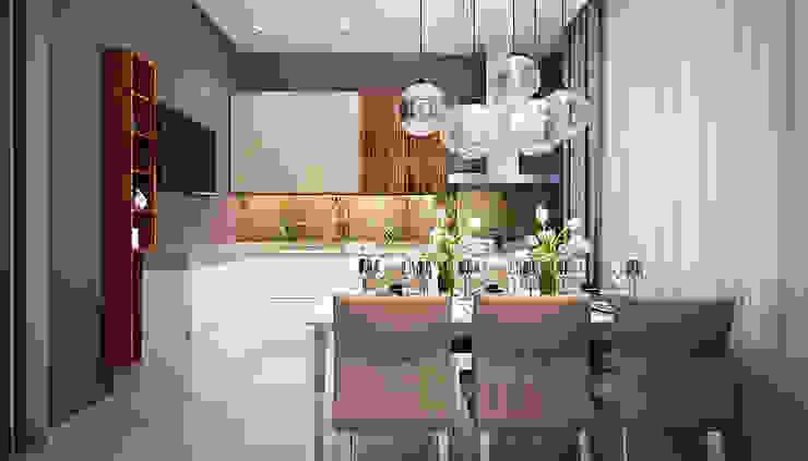 現代廚房設計點子、靈感&圖片 根據 Дизайн студия 'Хороший интерьер' 現代風