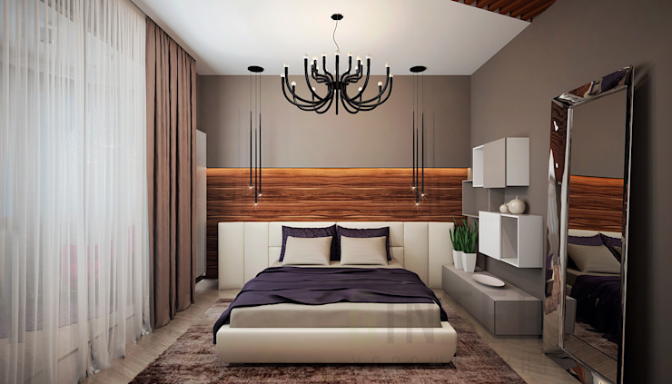 Chambre moderne par Дизайн студия 'Хороший интерьер' Moderne