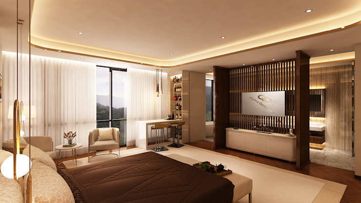 Projekty,  Sypialnia zaprojektowane przez Alpha Details, Klasyczny