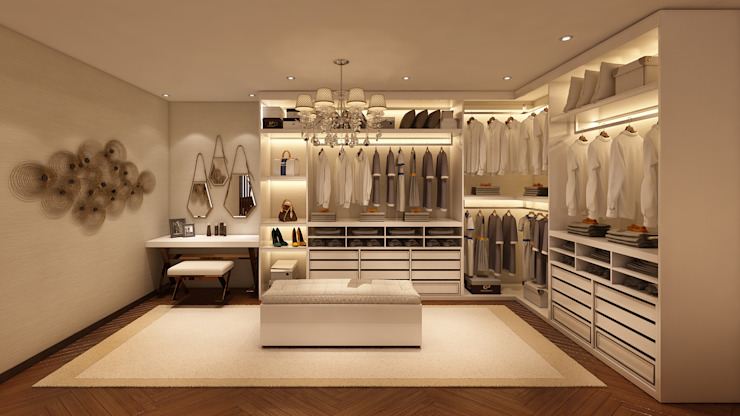 Modern style dressing rooms by Alpha Details Modern