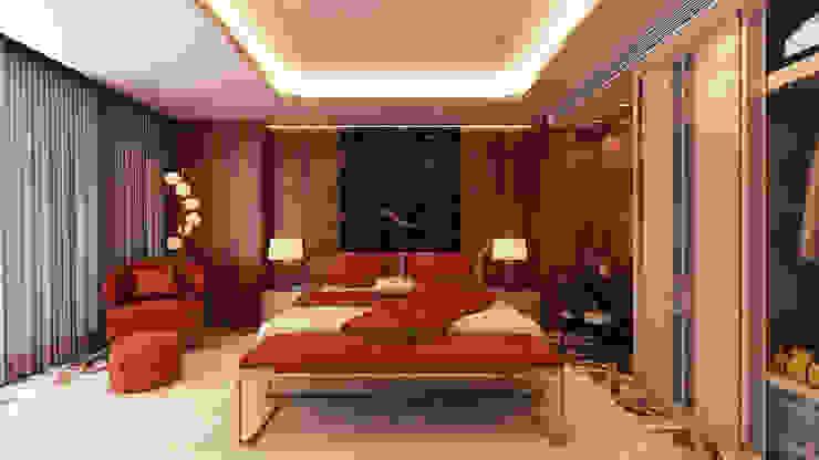 Quarto - hotel 5 estrelas Quartos modernos por Alpha Details Moderno