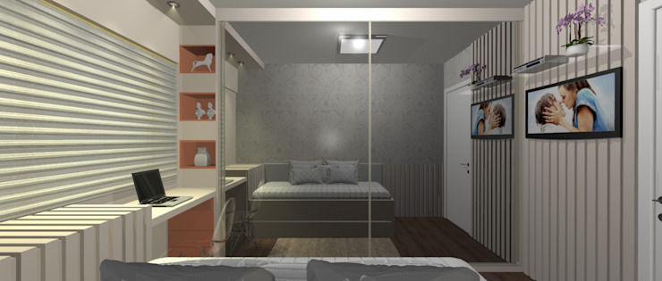 Modern Bedroom by Aline Monteiro Modern