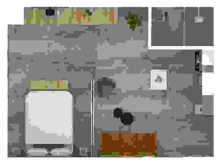 Planta general Aparta hotel :  de estilo industrial por Decó ambientes a la medida, Industrial