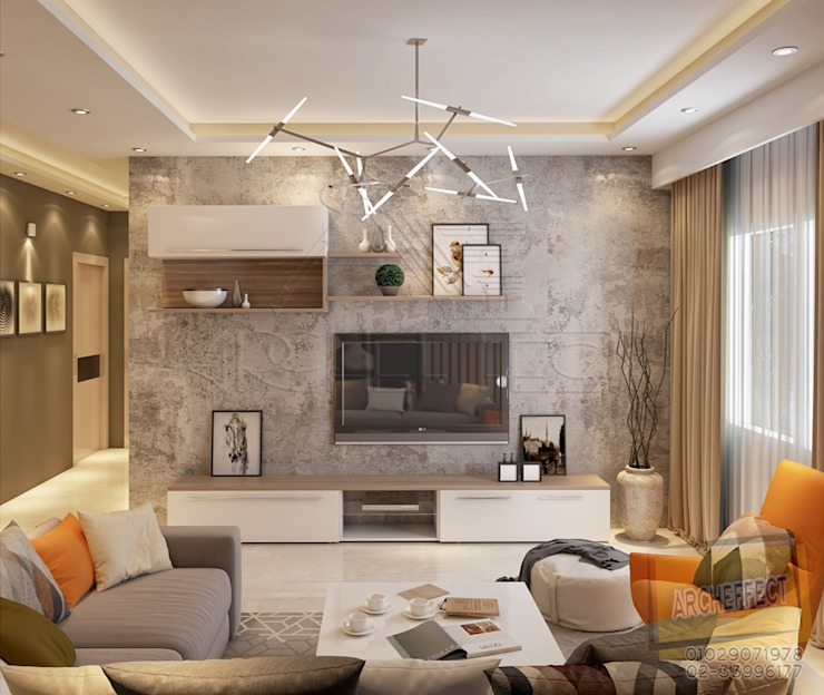 Living room من Archeffect حداثي