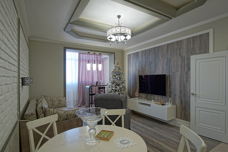 Salas de estilo moderno de Студия интерьерного дизайна happy.design Moderno